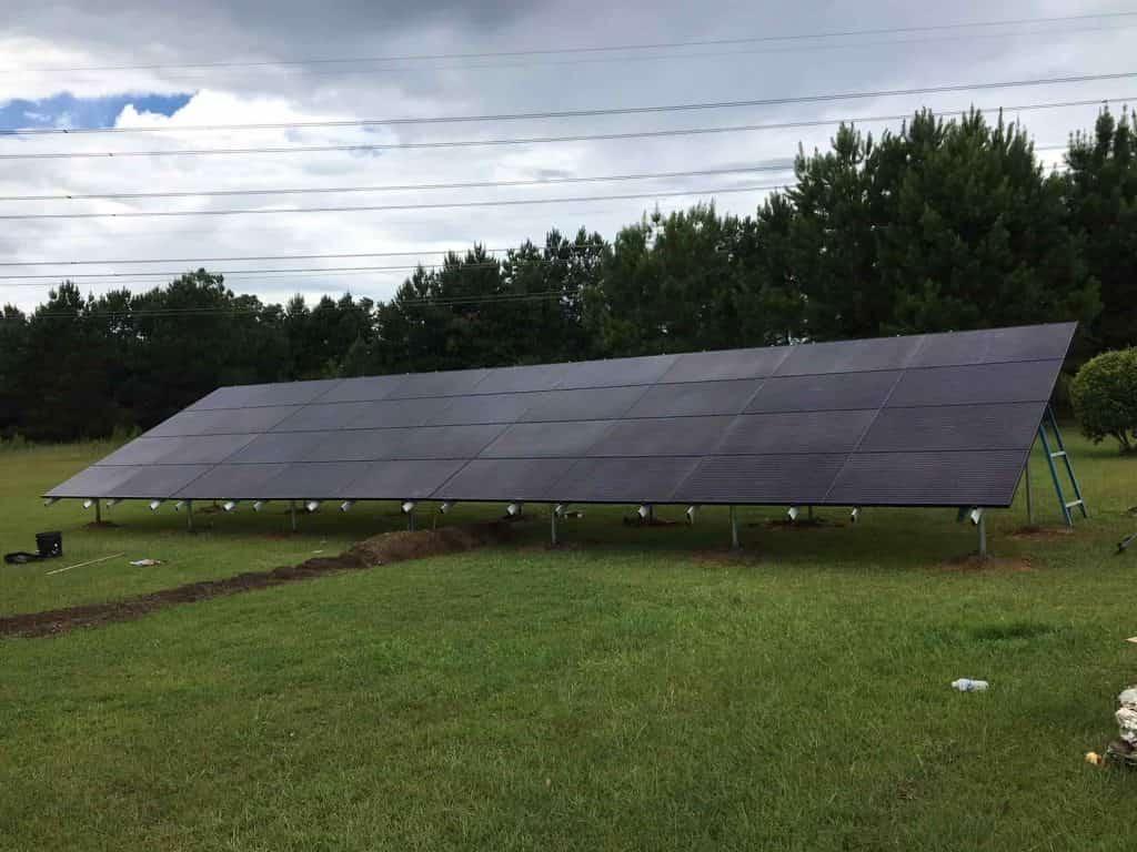 Ground Mounts Solar Panel Installation in Texas